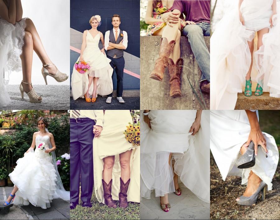 ee7a42b6e96 Les matières de fabrication des chaussures pour la mariée participent aussi  à votre confort. Si les chaussures en cuir ou en satin se marient bien aux  robes ...