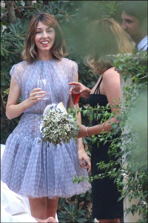 robe mariée lavande courte à jupe évasée Sofia Coppola 2012