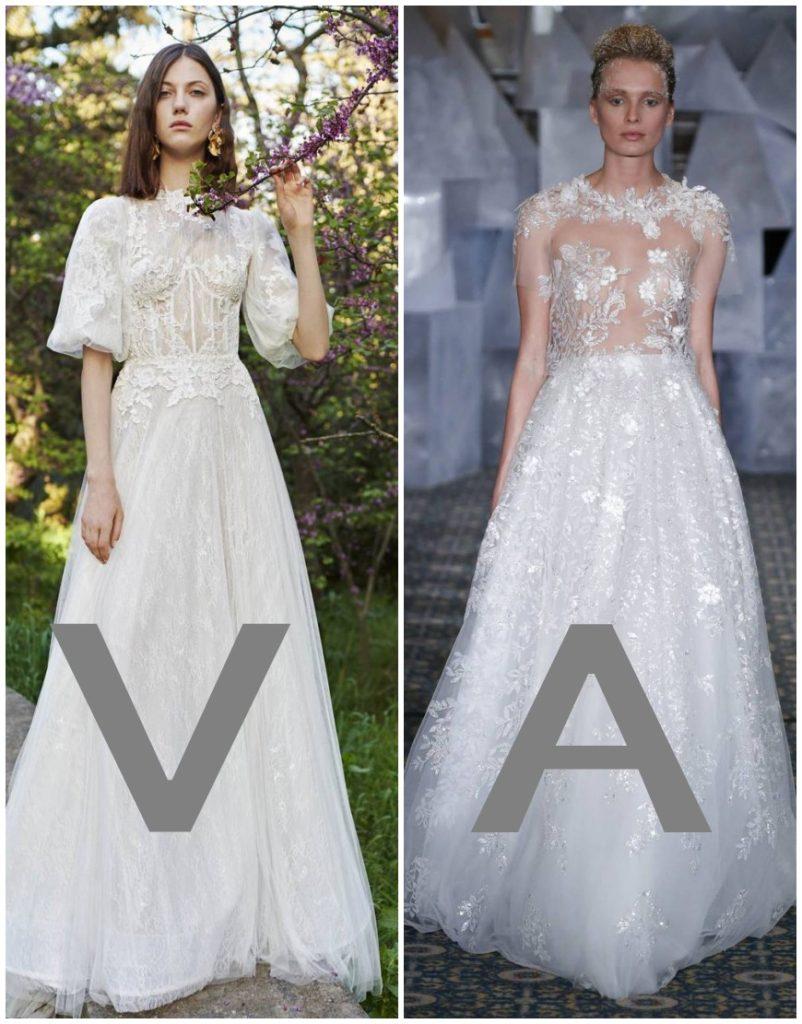 robes de mariée longue ligne A