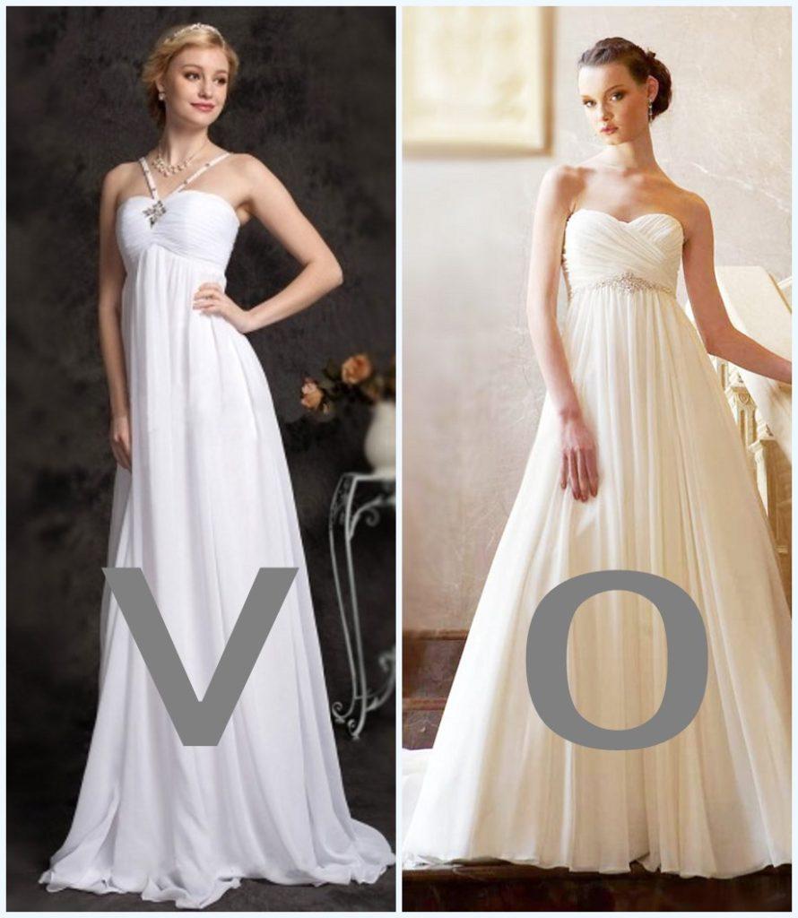 robes de mariée style empire pour femme ronde