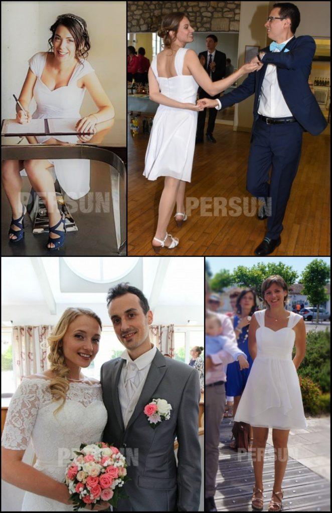 robes courtes de mariée simples sur persun.fr