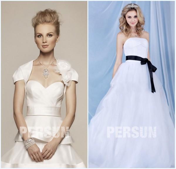 boléro et ceinture pour robe de mariée