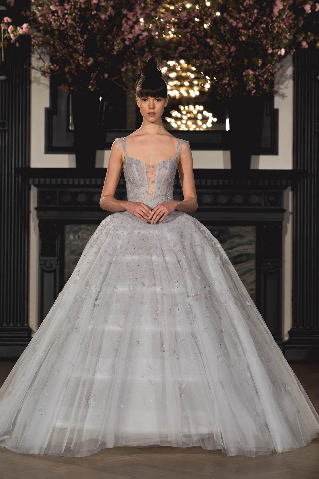 robe de mariée bleu pale princesse