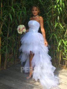 robe de mariée style bascule bustier droit
