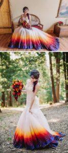 robe de mariée princesse de couleur dégradée