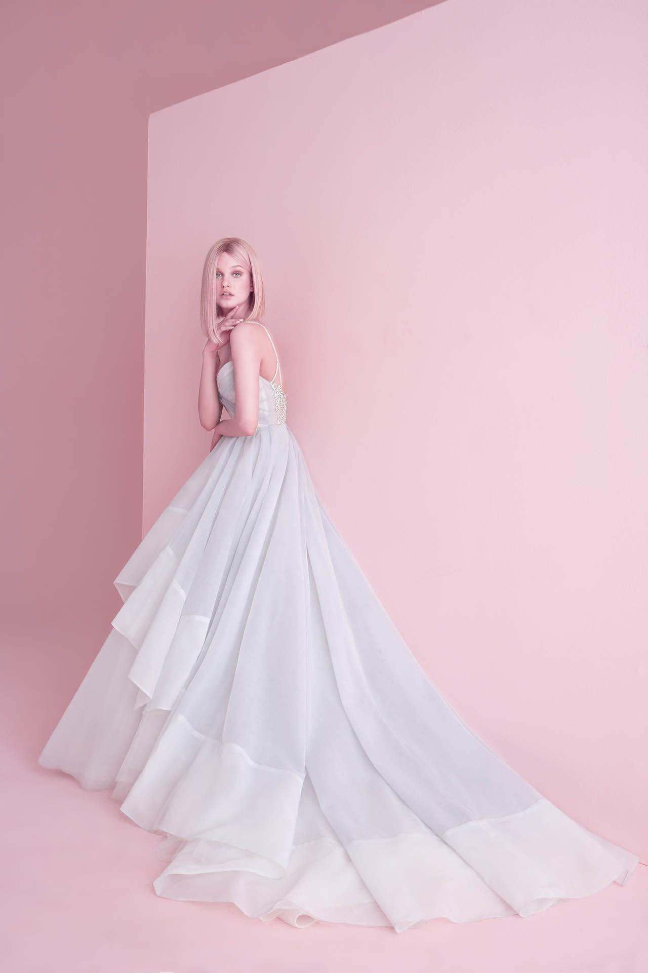 robe de mariée princesse longue à volants