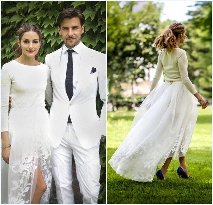 tenue de mariée Olivia Palermo