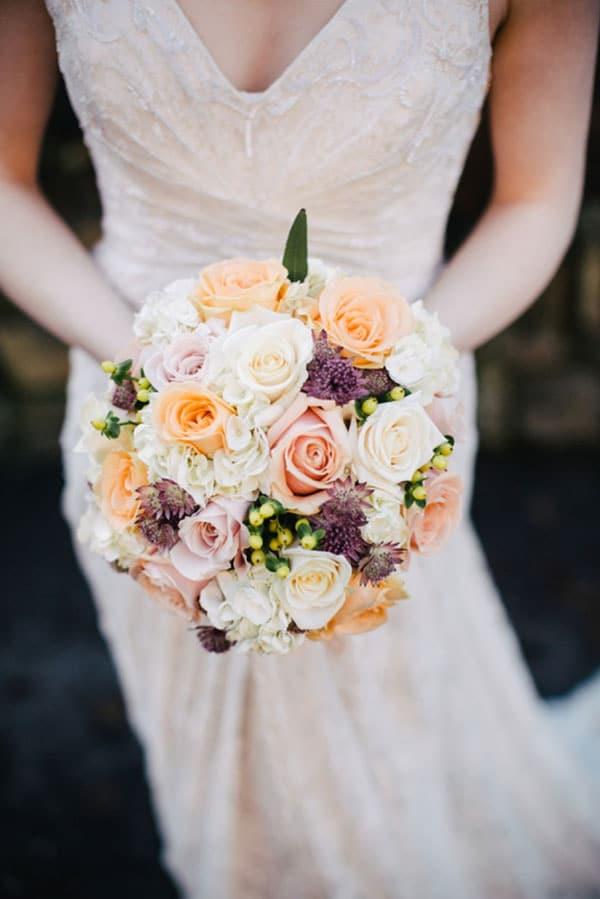 bouquet de mariage rond