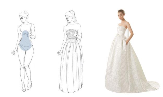 choisir la robe mariée pour femme en forme de A