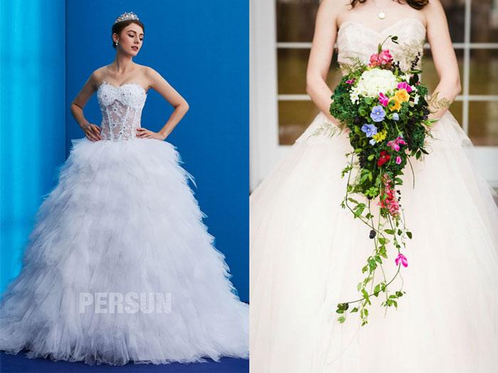 robe de mariée sexy corsage perlé