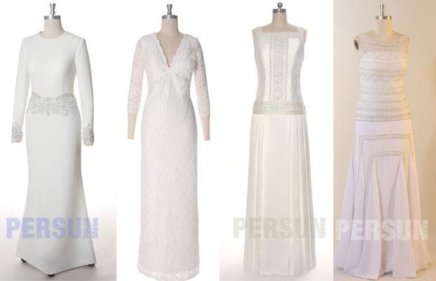 robes de mariée élégantes pour femme quarantaine