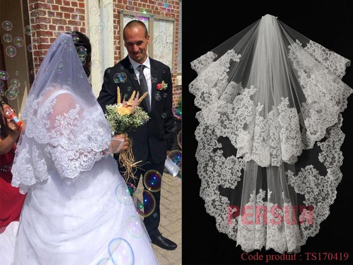 voile de mariage vintage en dentelle guipure