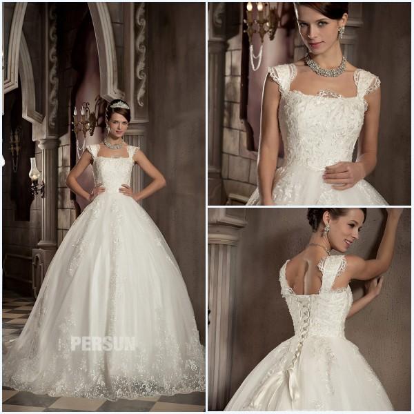 robe de mariage église bouffante avec broderies