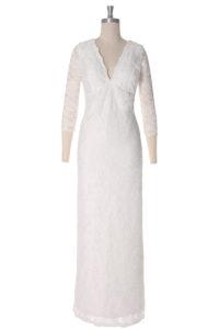 robe de mariée dentelle col en V