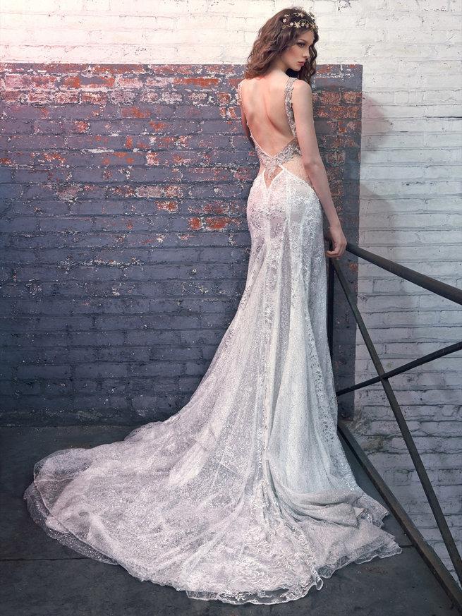 robe de mariée de luxe sirène dos nu
