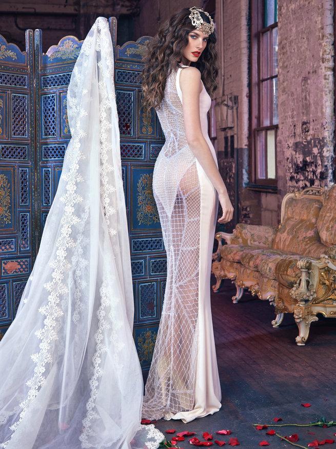robe de mariée sexy transparente