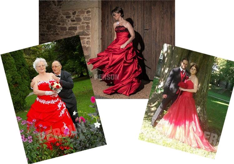 avis client de robes de mariée rouges