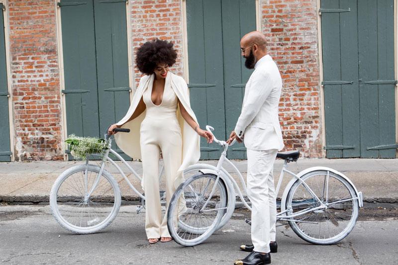 combinaison mariage de Solange Knowles