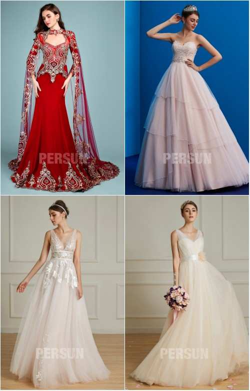 robes de mariée colorées tendance 2019 persun