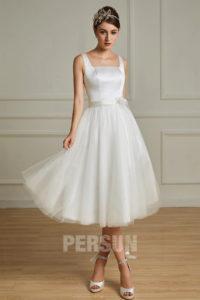 robe de mariée courte simple bimatière