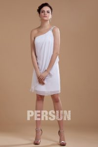 simple robe de mariée courte asymétrique