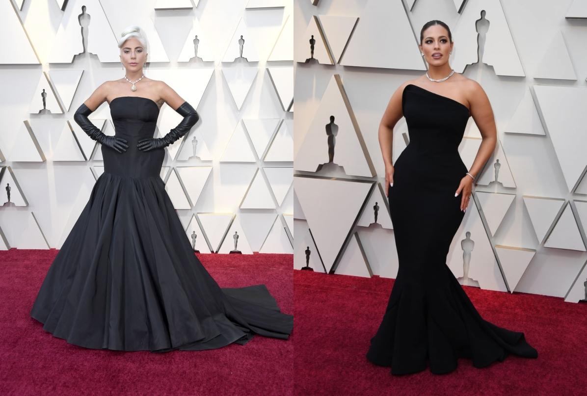 robe de soirée sirène de Lady Gaga et Ashley tapis rouge Oscars 2019