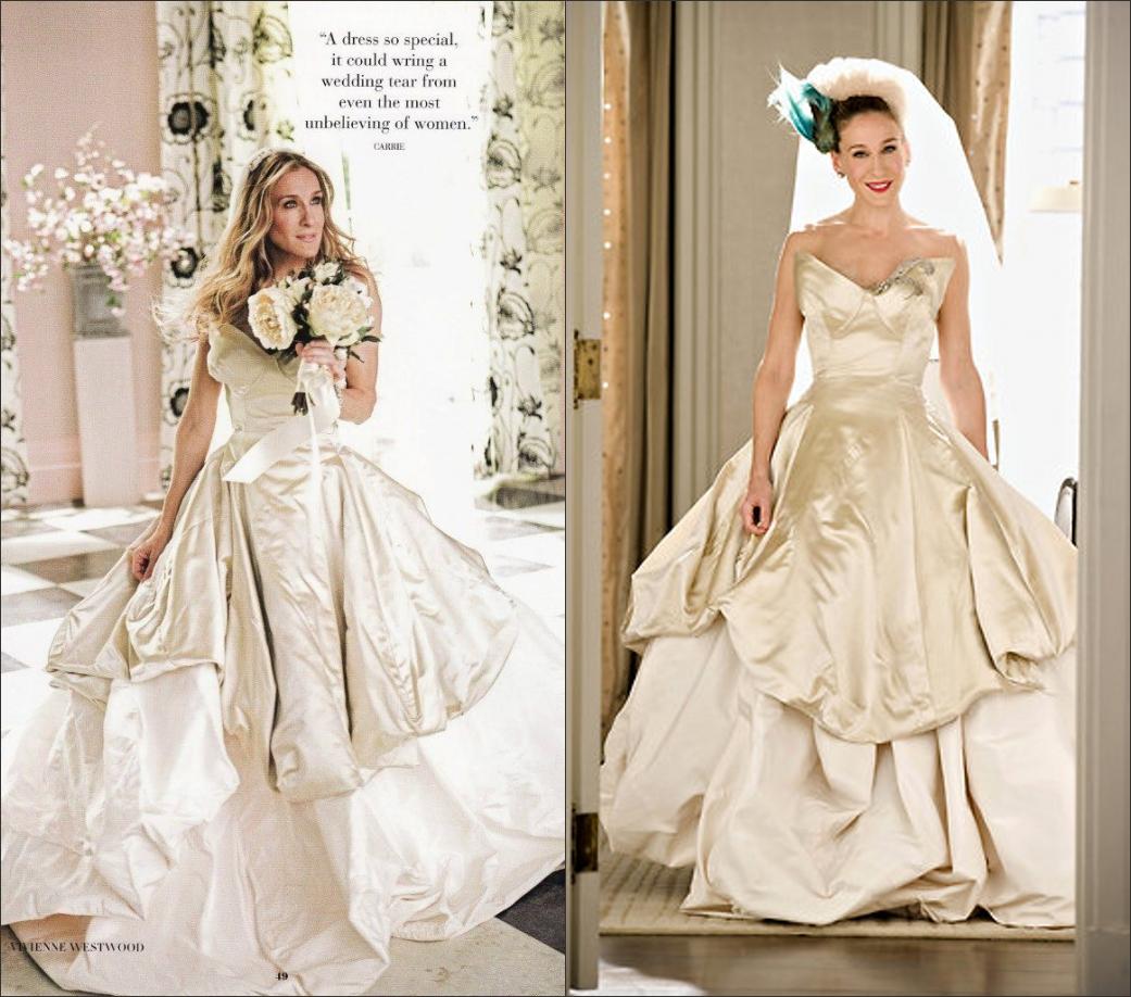 robe de mariée classique deJessica Parker dans le film Sex and the city