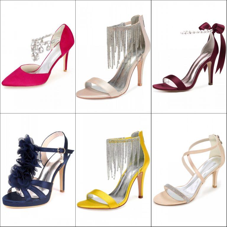 chaussure de mariage colorée en création différente