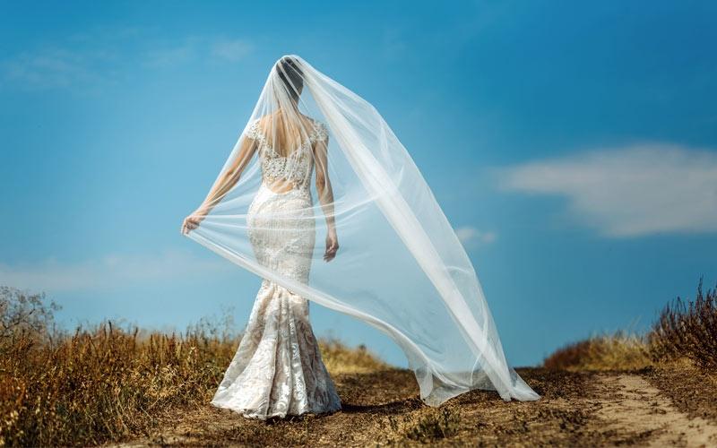 voile de mariage simple long en tulle