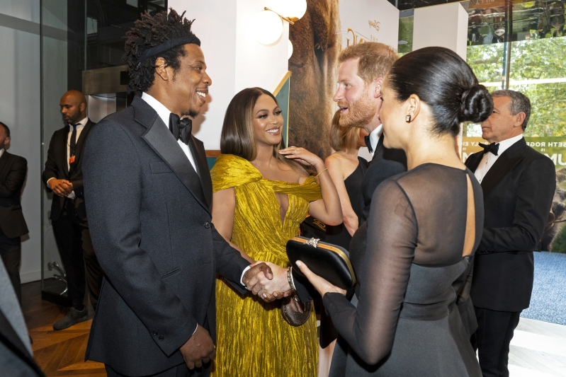 Byoncé et Jay-z rencontre le couple royal Meghan Markle and Prince Harry