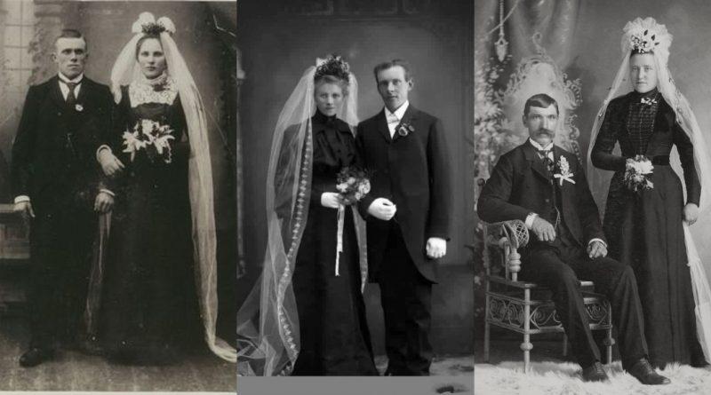 robe de mariée noire dans les année 1800