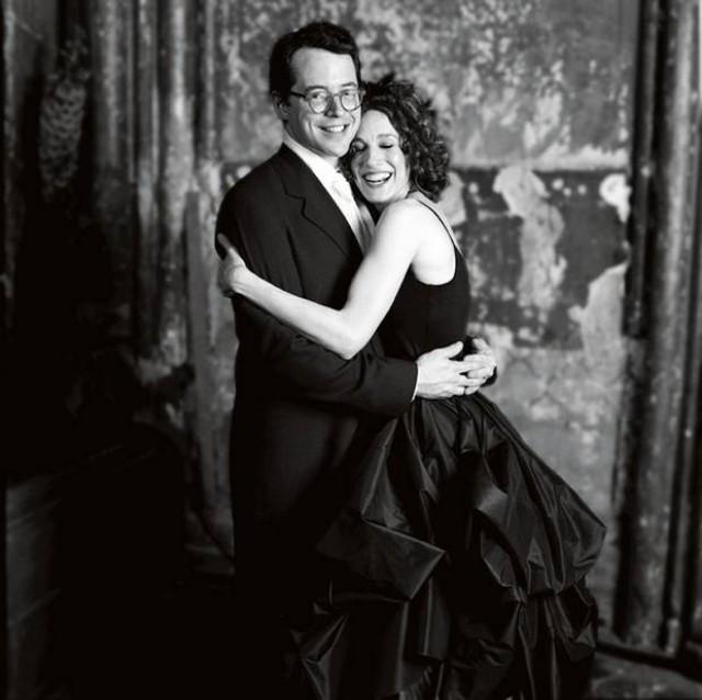 Sarah Jessica Parker porte une robe de mariée noire signée par vera wang