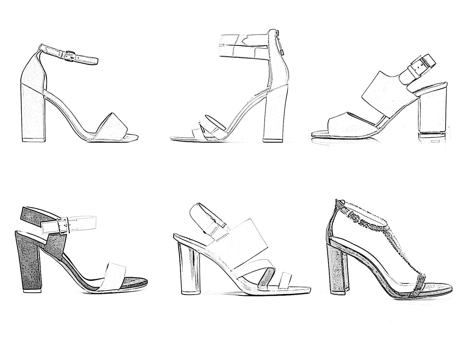 sandales à talon à la mode 2019