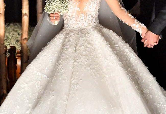 robe de mariée sexy de Victoria Swarovski éblouissante fantaisie