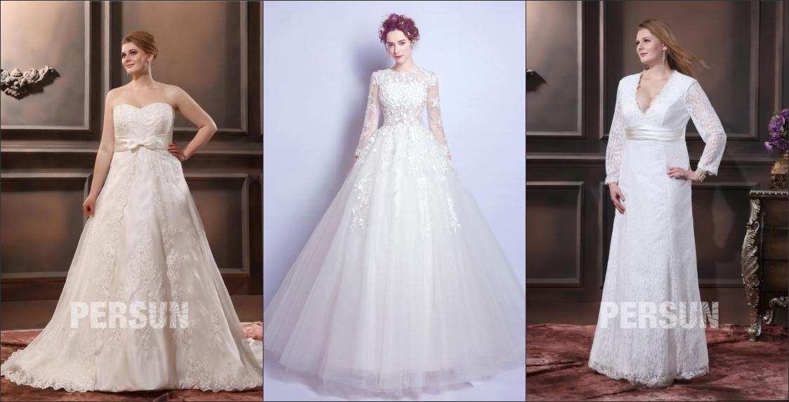 élégante robe de mariée grande taille en création originale persun