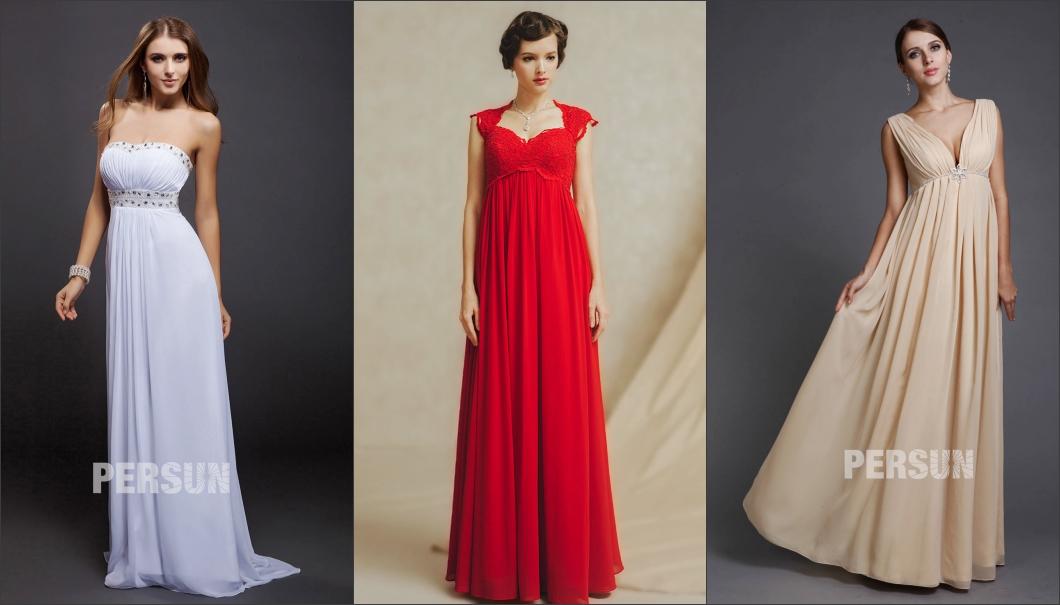 robe de cérémonie longue empire magnigique