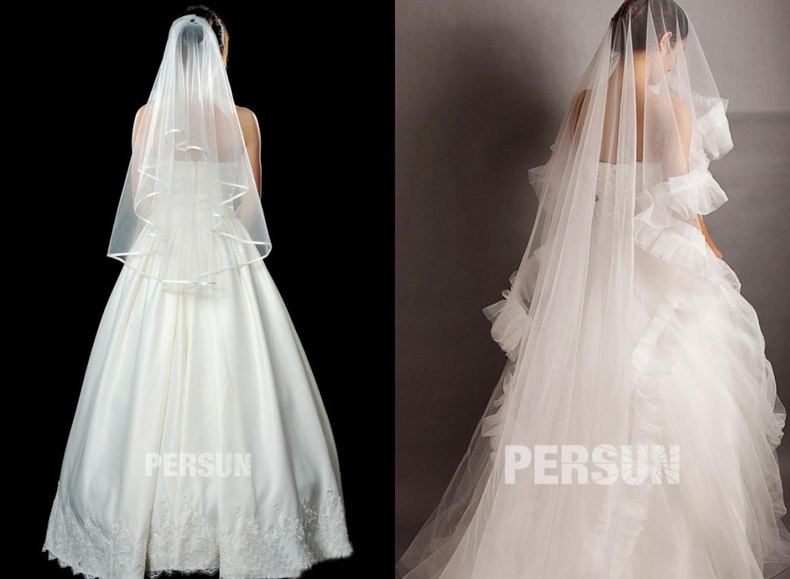 élégante voile longue pour mariage religieux