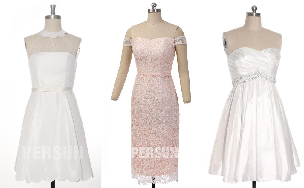 robe de mariée courte chic persun