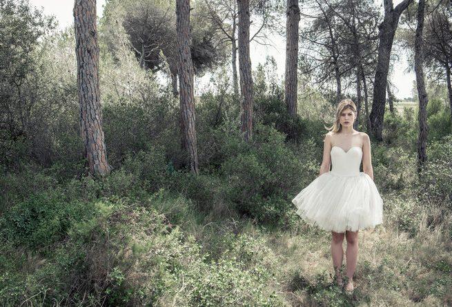 robe de mariée jolie courte tutu bustier
