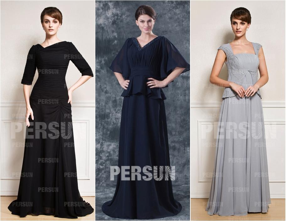 robe de soirée longue couleur pour enterrement