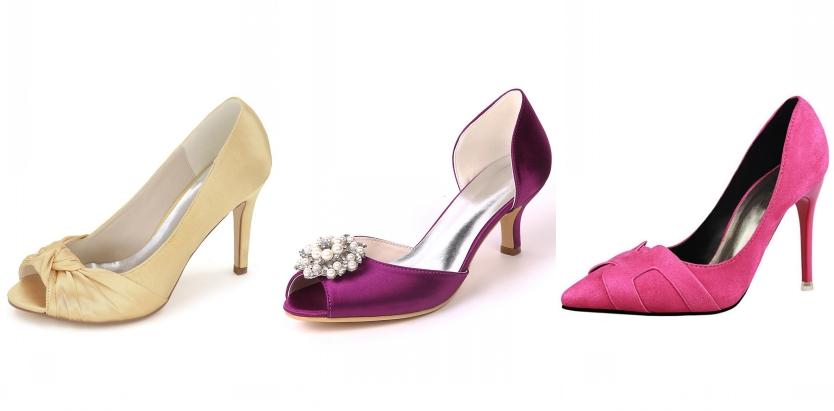 chaussure de colorée pour mariée
