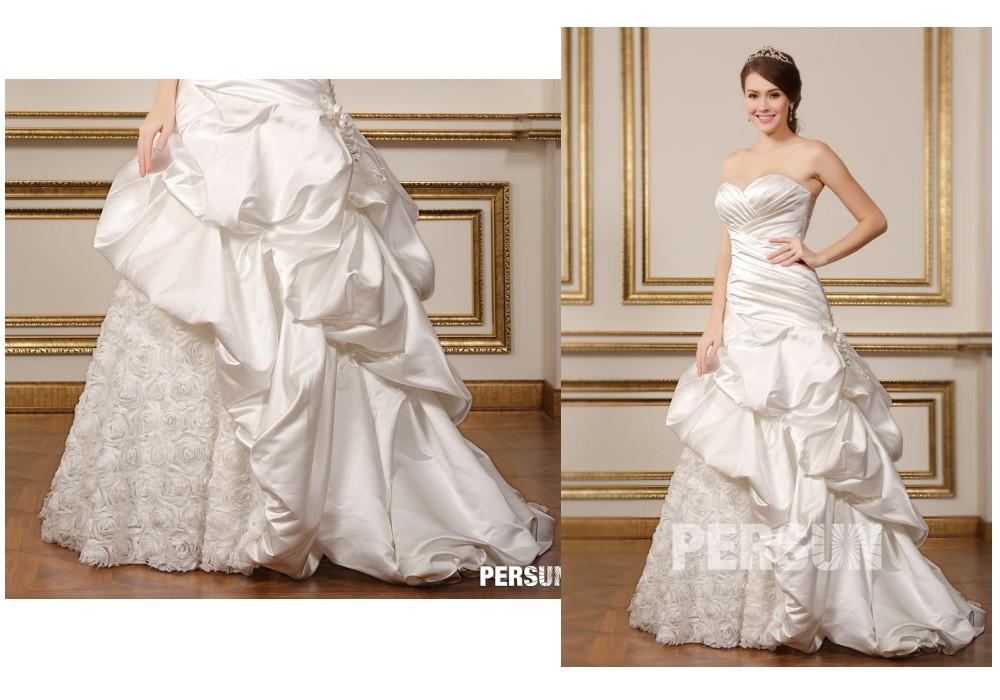 robe de mariée princesse bustier drapé