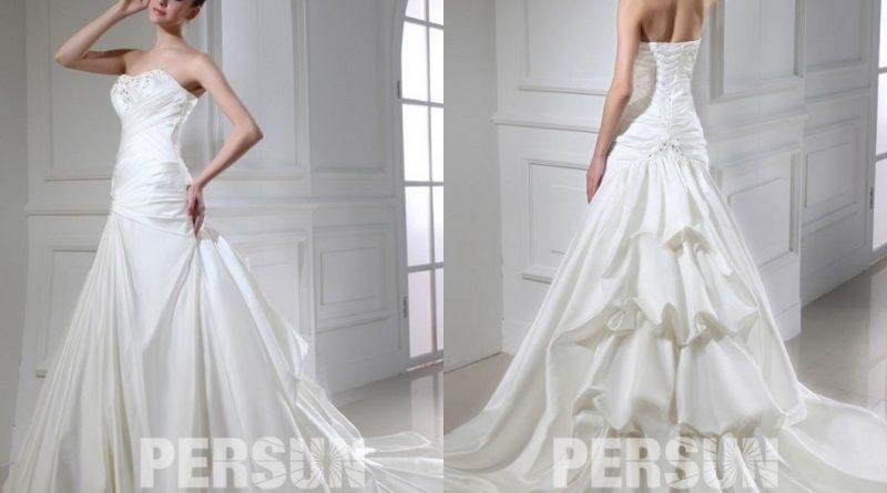 robe pour mariage trompette bustier coeur ornée de strass