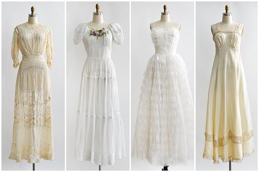 robe mariage vintage années 90s