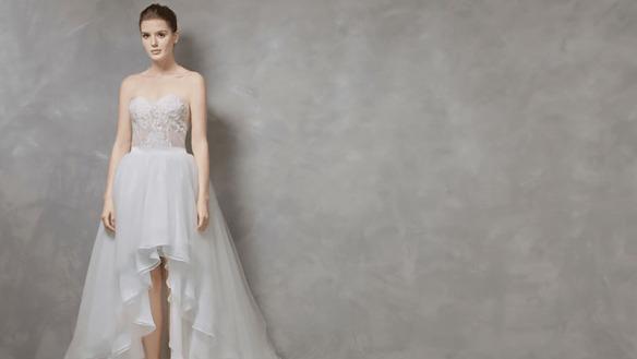 robe mariage courte devant longue derrière bustier dentelle illusion en coeur