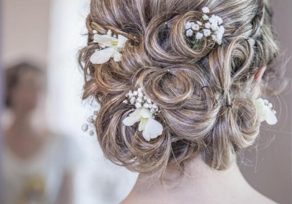 accessoire de cheveux de mariée
