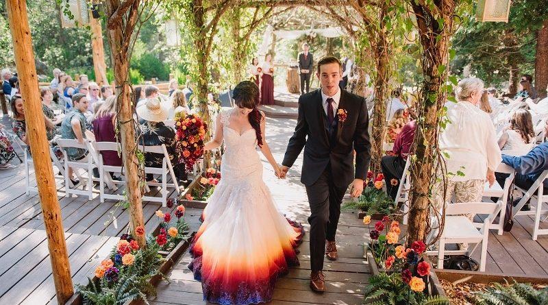 robe de mariée dégradé